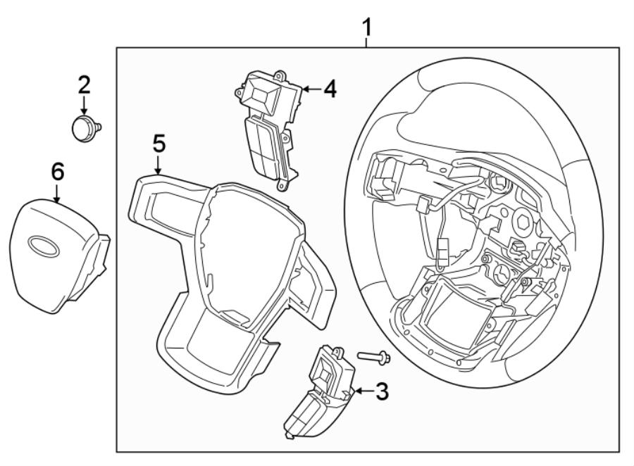 Ford F-150 Steering Wheel Radio Controls. F150; w/Raptor