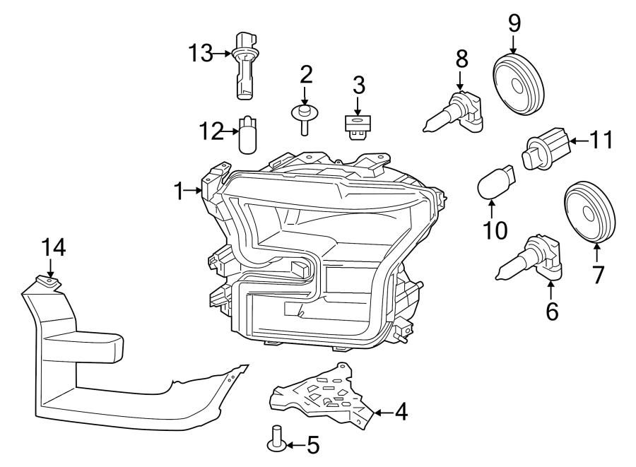 Ford F-150 Headlight Bracket. HEADLAMPS, WLED, LAMPS