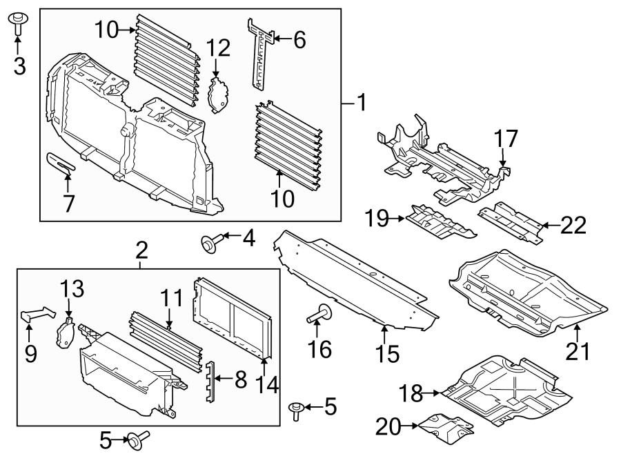 2018 Ford F-150 Floor Pan Splash Shield (Front, Lower