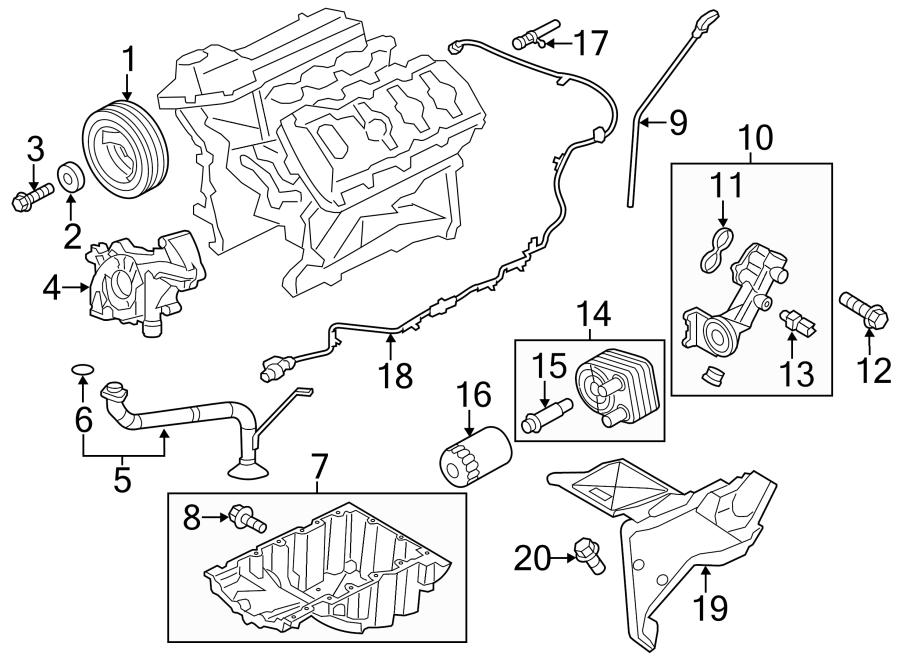 2016 Ford F-150 Engine Intake Manifold. Upper, LITER