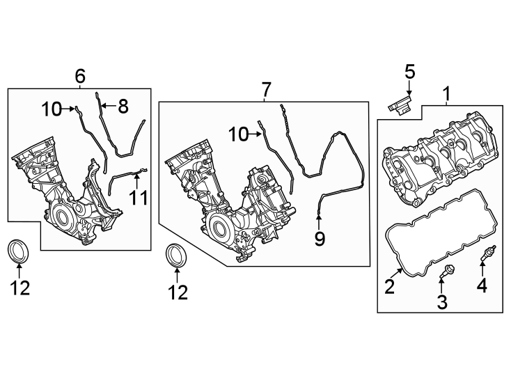 Ford F-150 Engine Timing Cover. 5.0 LITER, from 10/12/2015