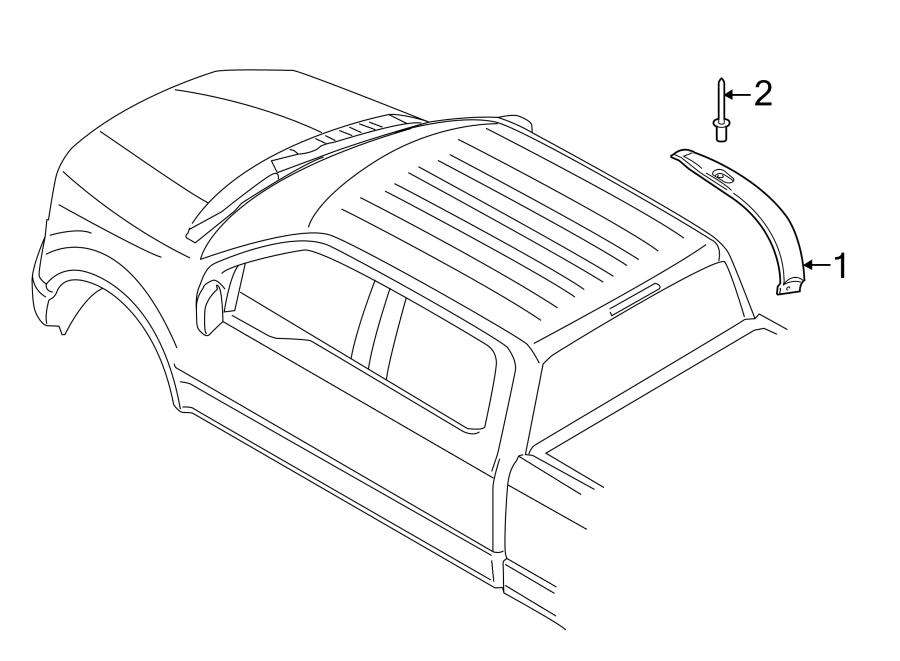 Ford F-150 Truck Cab Corner Trim Panel (Lower