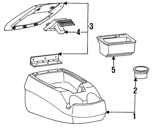 Ford F-150 Console. W/o Super Cab, manual trans. CENTER