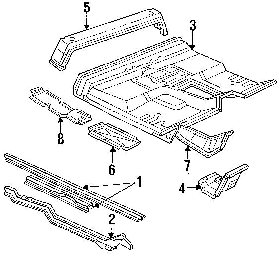 Ford F-250 Crossmember. CREW CAB, corner, rear. REGULAR