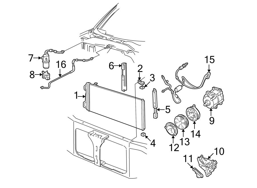 1998 Ford A/c compressor clutch pulley. Liter, air, diesel