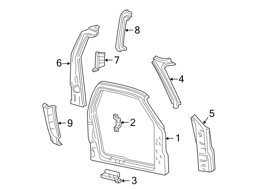 Ford F-150 Rear EXTENSION. SUPER CAB 3 DOOR, PASSENGER