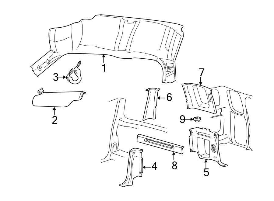 Ford F-150 Cup holder. SUPER CAB 3 DOOR. TRIM, INTERIOR