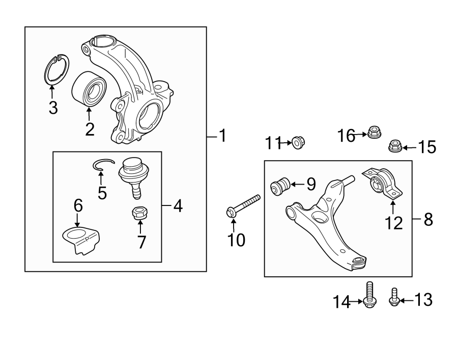 2010 Ford Transit Connect Steering Knuckle (Front