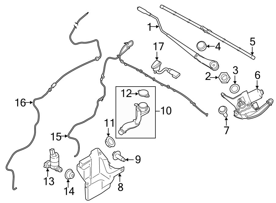 2015 Ford Transit Connect Washer Fluid Reservoir