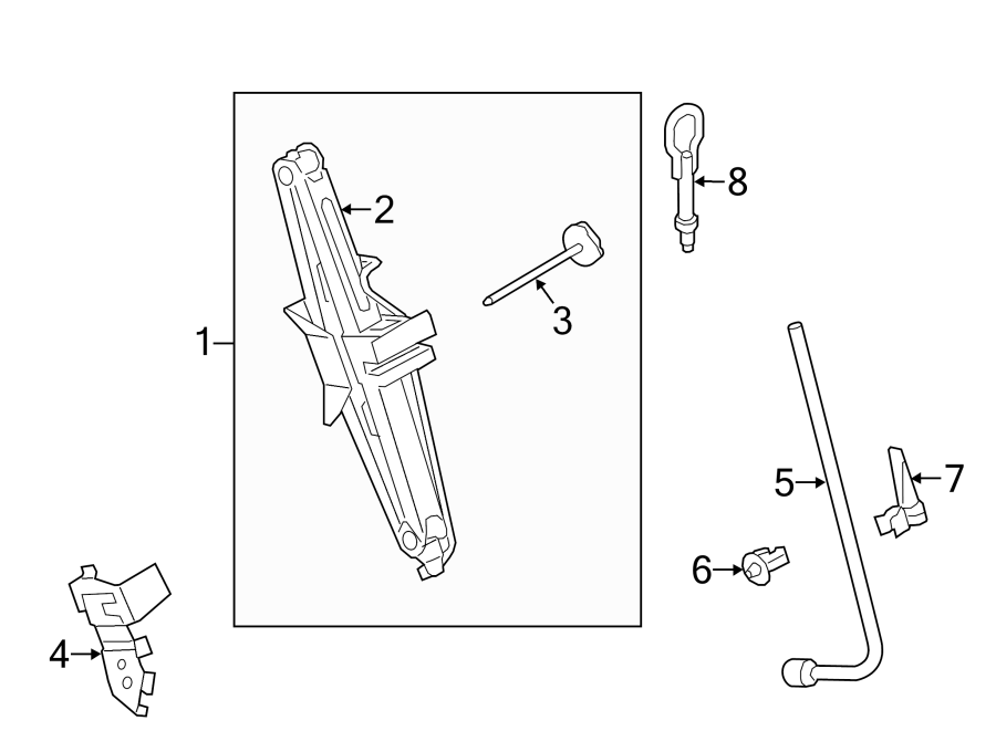 Ford Transit Connect Wheel Lug Wrench. DRIVER SIDE