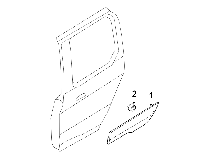 Ford Transit Connect Body side MOLDING. MOULDING ASSEMBLY