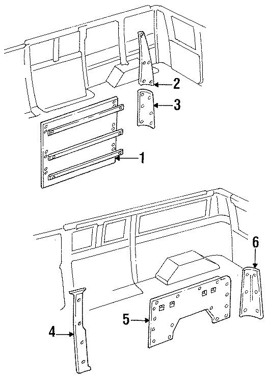 Ford E-150 Econoline Lock pillar trim. Upper, SIDE