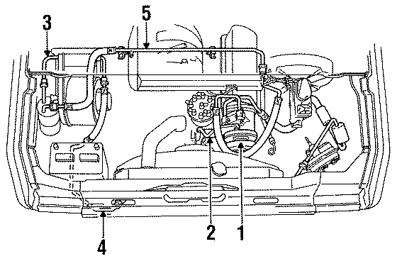 Ford E-350 Econoline Club Wagon Compressor mount bracket