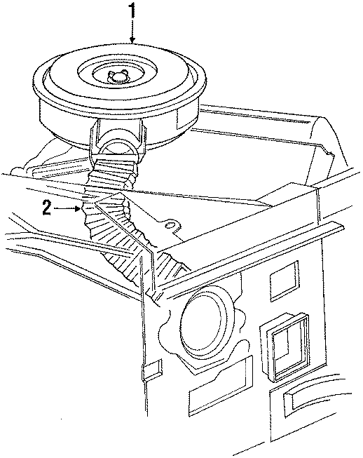 Ford E-350 Econoline Air cleaner ASSEMBLY. 7.3 LITER