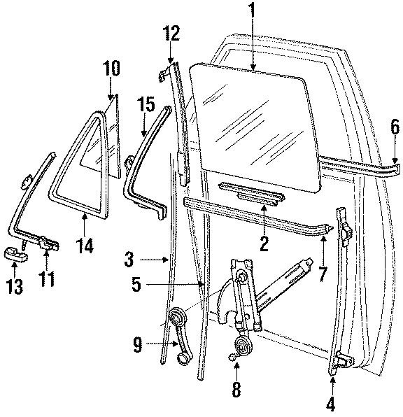 Ford E-150 Econoline Belt w'strip. Weatherstrip. Outer