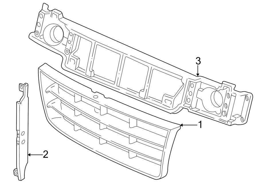 Ford E-150 Econoline Club Wagon Mount panel. Reinforcement