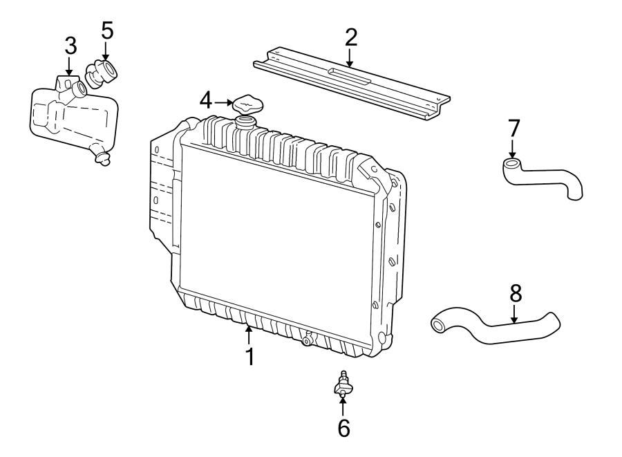 Ford E-150 Econoline Radiator. LITER, Cooling, Vans