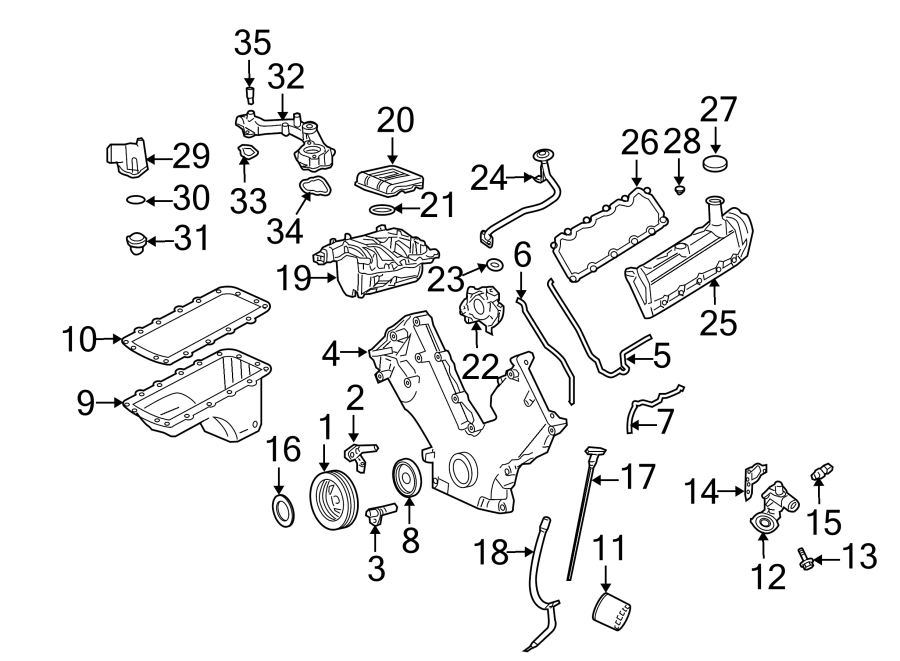 2005 Ford Housing. Thermostat. (Lower). 4.6L, 5.4L SOHC, 5