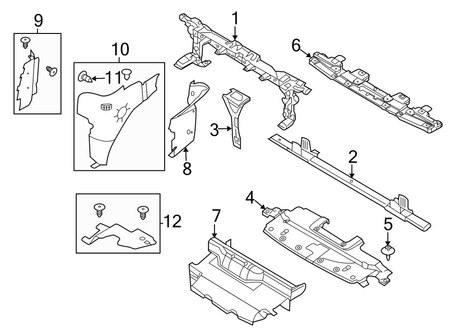 2007 Ford Expedition Front Bumper Diagram
