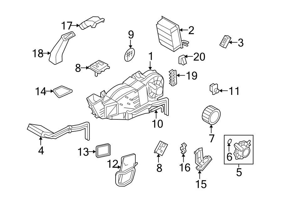 2016 Ford Expedition Blower motor resistor. Resistor. Rear
