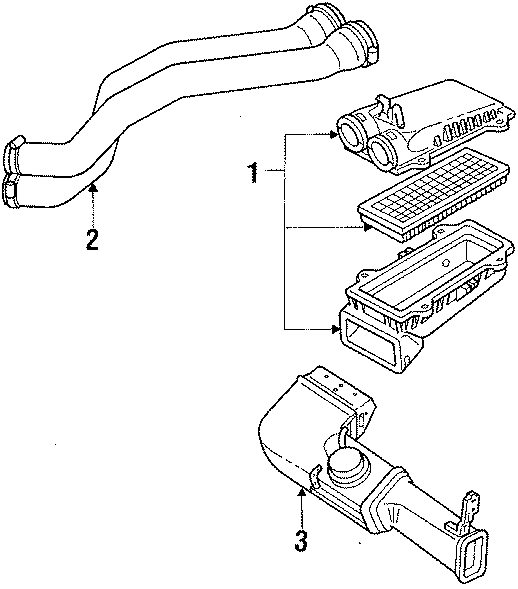 Ford Bronco Outlet duct. TUBE. LITER, WEFI, Assembly