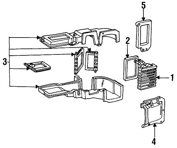 1989 Ford F-150 Heater core seal. HVAC, CONDITIONER