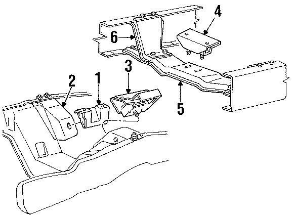 Ford Bronco Front bracket. Front mount BRACKET. 302-255