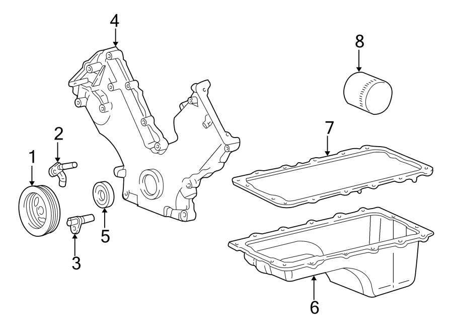 Ford Expedition Engine Oil Pan Gasket. LITER, BEARINGS