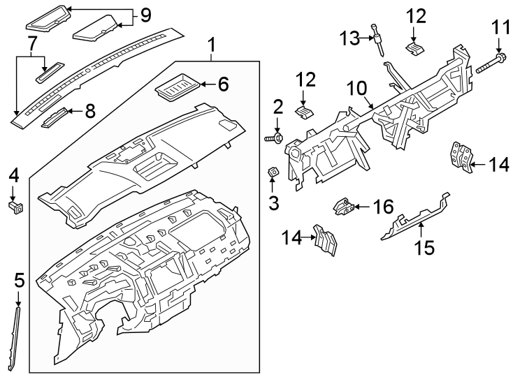Ford Ranger Instrument Panel Trim Panel (Front, Lower