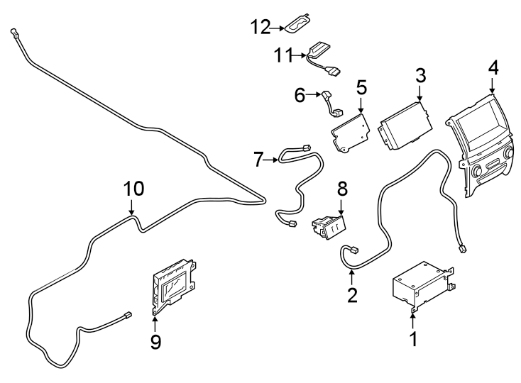 Ford Ranger Infotainment Display Control Module. WApple