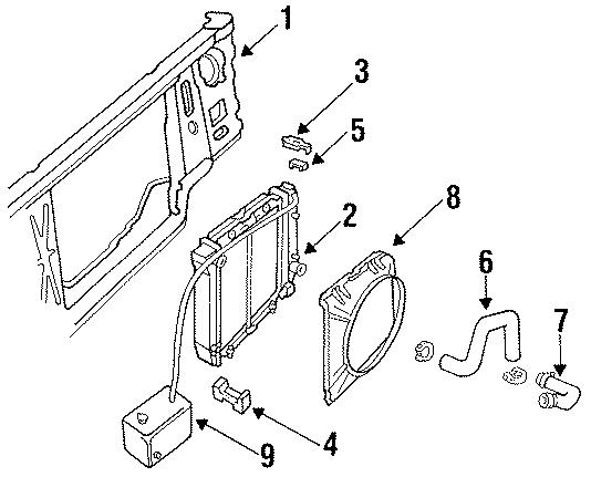 Ford Ranger Radiator Assembly bracket. Radiator support