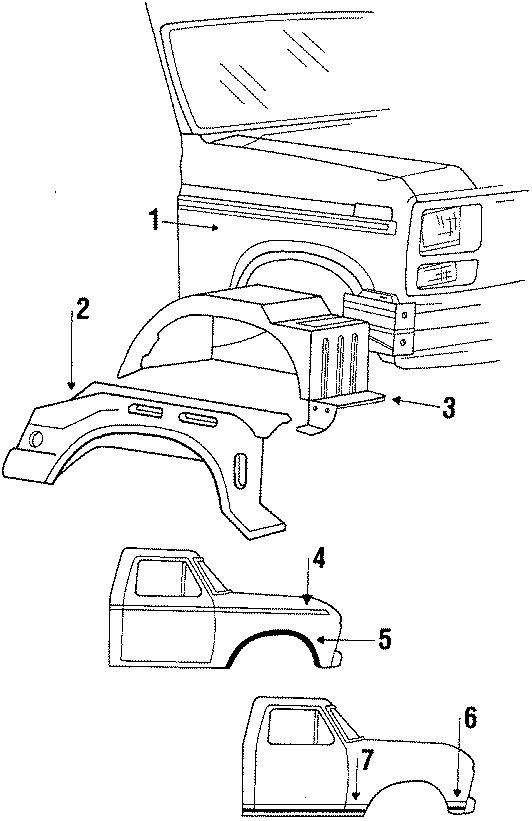 Ford Ranger Fender. 1984-88. COMPONENTS, EXTERIOR, RAILS