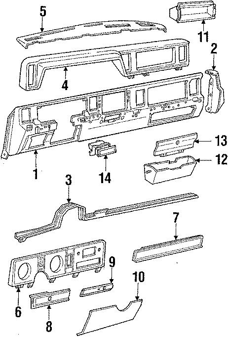 Ford Ranger Cluster panel. INSTRUMENT, Body