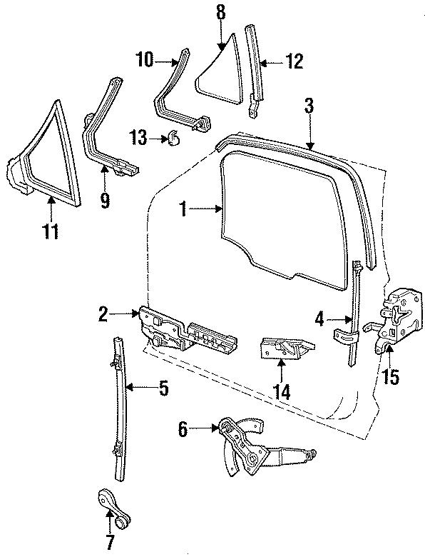 Ford Ranger Lock. W/power locks. W/power locks, to 11/87