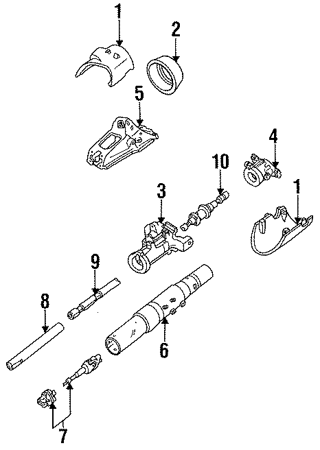 Ford Ranger Coupling. Intermediate Shaft. (Lower). MANUAL