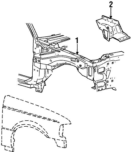 Ford Ranger Inner panel. Right, FENDER, COMPONENTS, Body