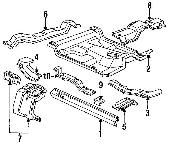 Ford Ranger Floor pan. REGULAR CAB. ROCKER, PANEL, Body