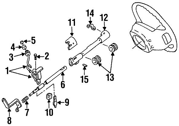 2002 Ford Explorer Clevis pin. Shift tube pin