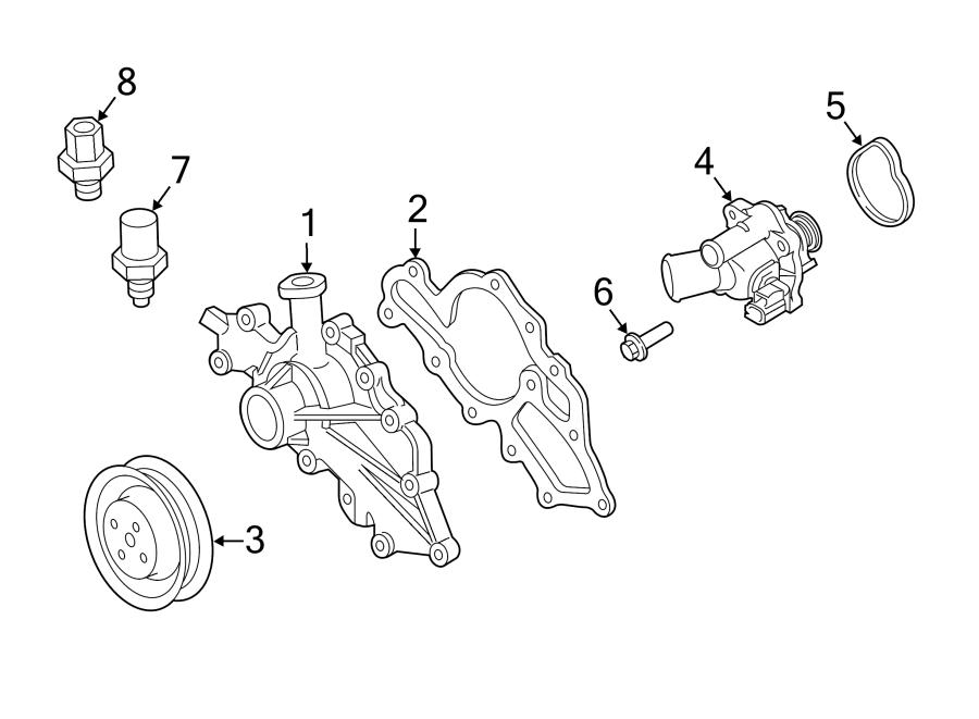 Ford Explorer Sport Trac Engine Coolant Temperature Sender