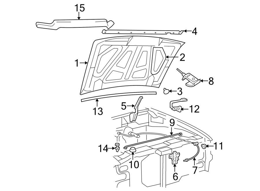 Ford Ranger Hood Insulation Pad. Steel, Insulator, Profile
