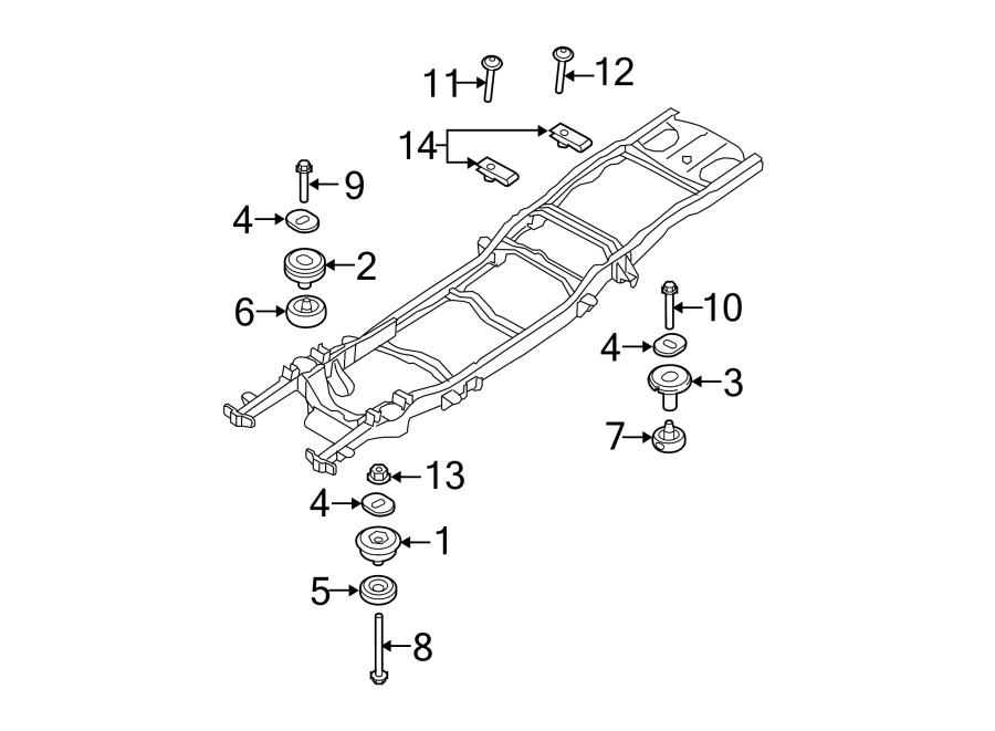 Ford Explorer Sport Trac Mount bolt. Pickup box bolt. #5