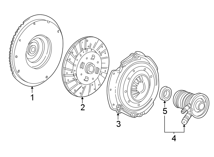2005 Ford Clutch Friction Disc. Assembly, Replace, TRANS