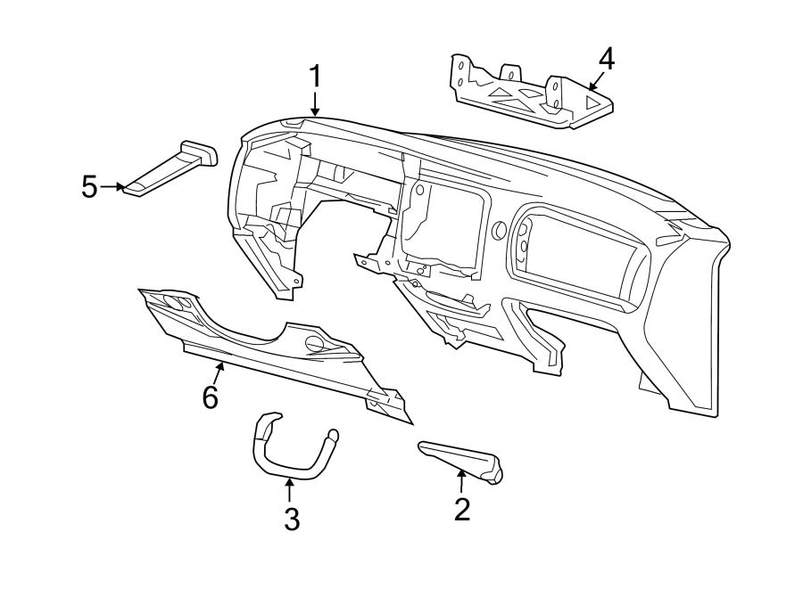 2002 Ford Explorer Reinforcement. Panel. Instrument