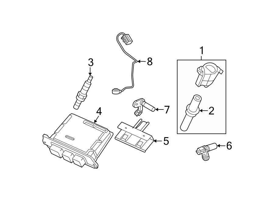 Ford F-250 Super Duty Ignition Knock (Detonation) Sensor