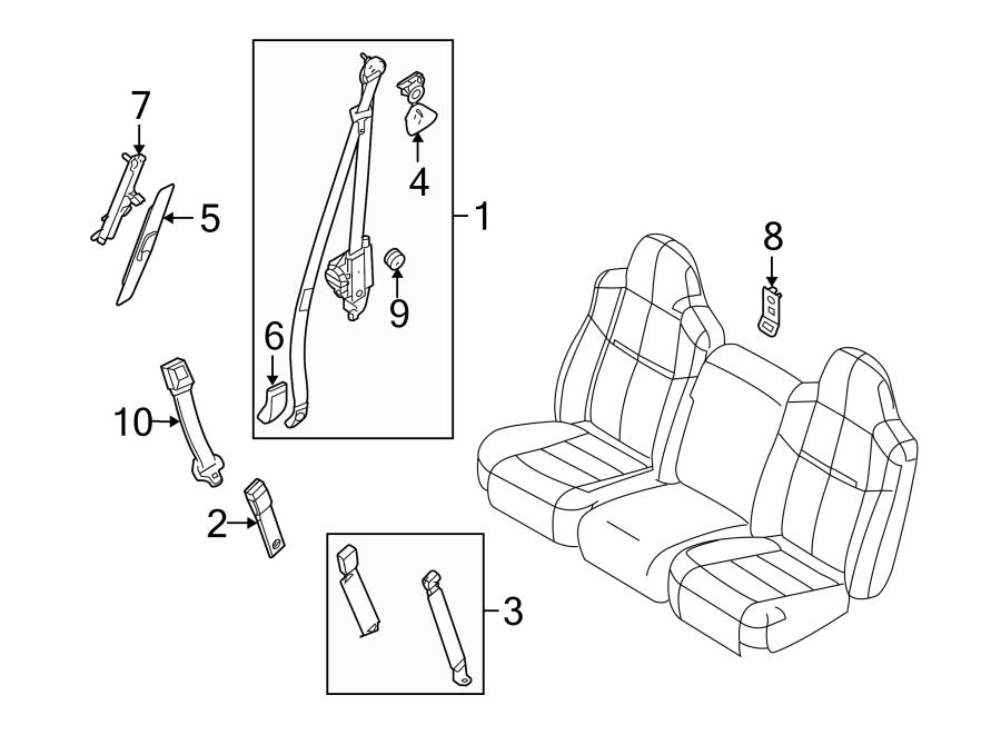 Ford F-250 Super Duty Belt. Seat. Retractor. Pretensioner