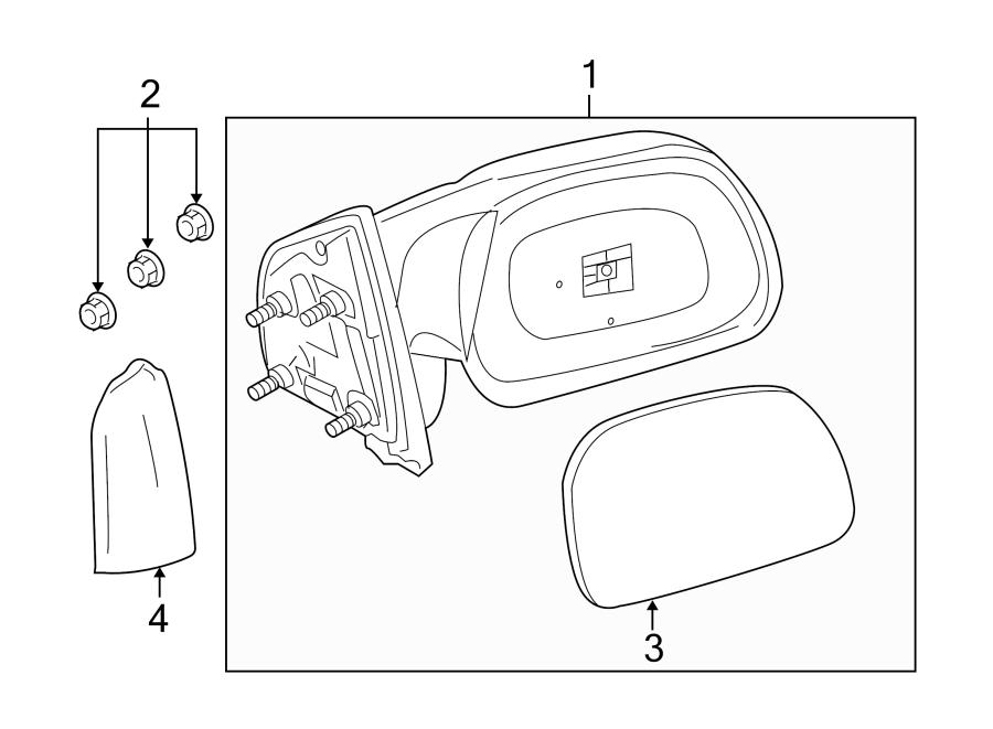 Ford F-250 Super Duty Door Mirror (Rear). Manual, TRAILER