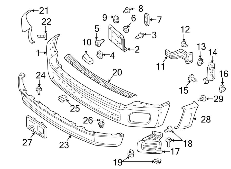 Ford F-250 Super Duty Valance panel. Front; F250-350; w