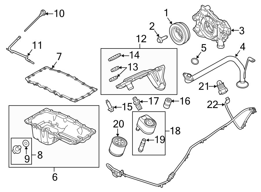 2014 Ford F-350 Super Duty Engine Crankshaft Pulley. 6.2