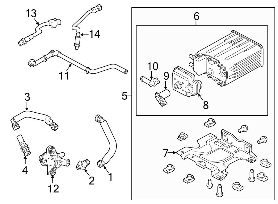 2014 Ford F-350 Super Duty Pcv valve hose. Liter, emission