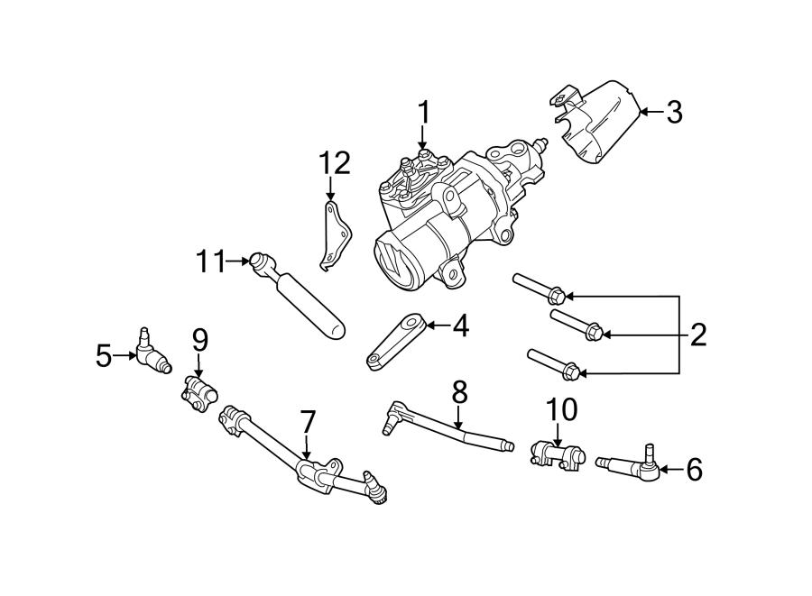 Ford F-250 Super Duty Steering Drag Link. F250, F350 2WD